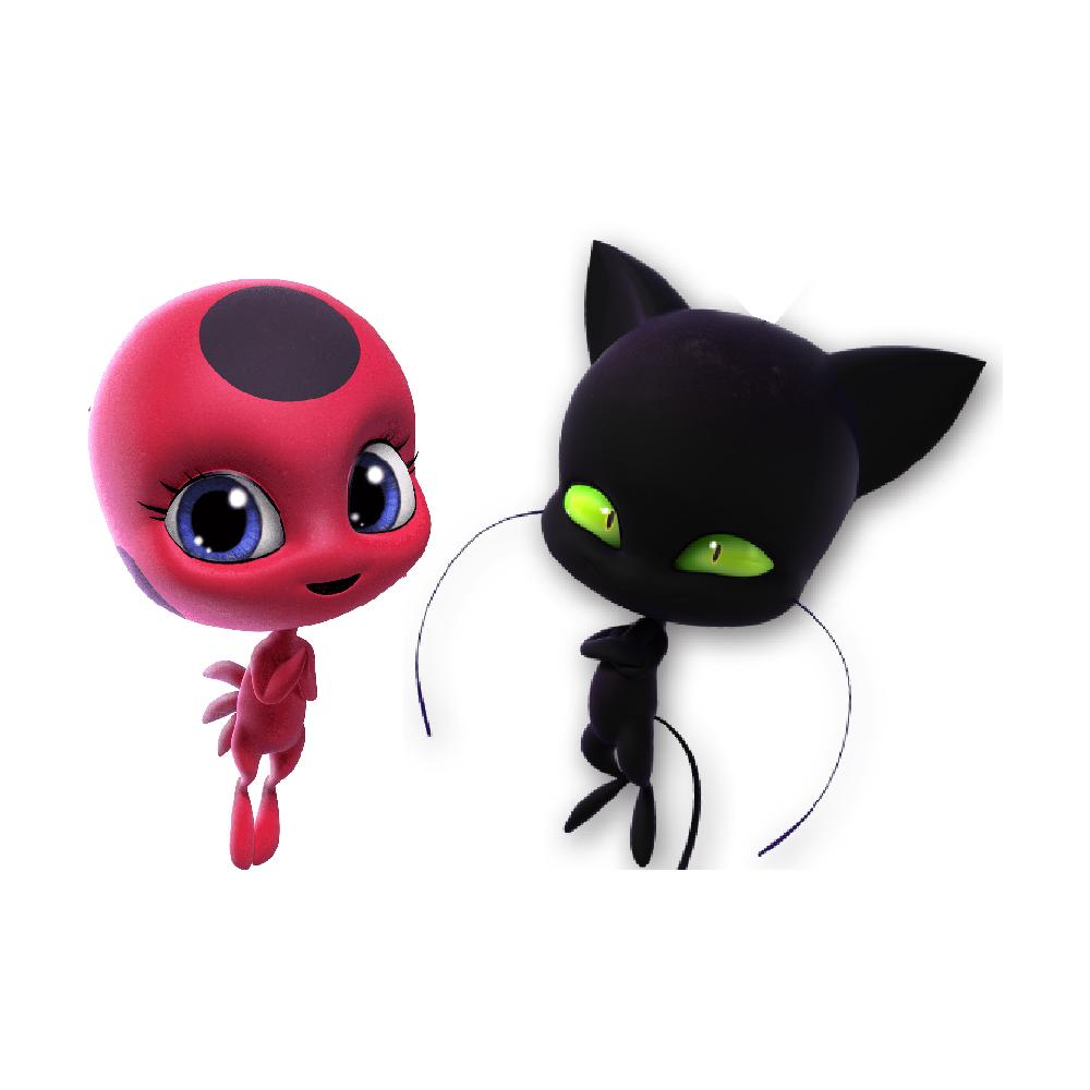استیکر فراگراف کلید و پریز FG طرح دختر کفشدوزکی کد 0032 Ladybug & Cat Noir