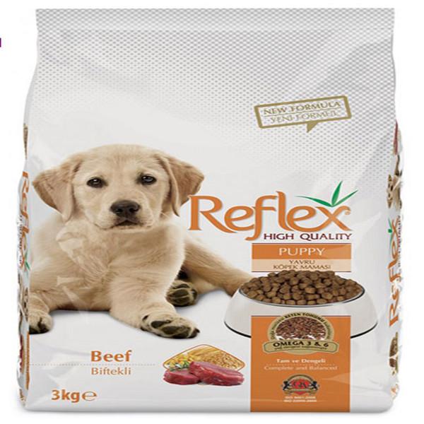 غذای خشک سگ رفلکس مدل puppy&beef وزن 3 کیلوگرم