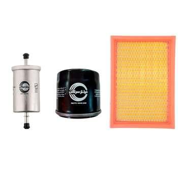 فیلتر روغن خودرو سرکان مدل 7735 مناسب برای پراید به همراه فیلتر هوا و بنزین