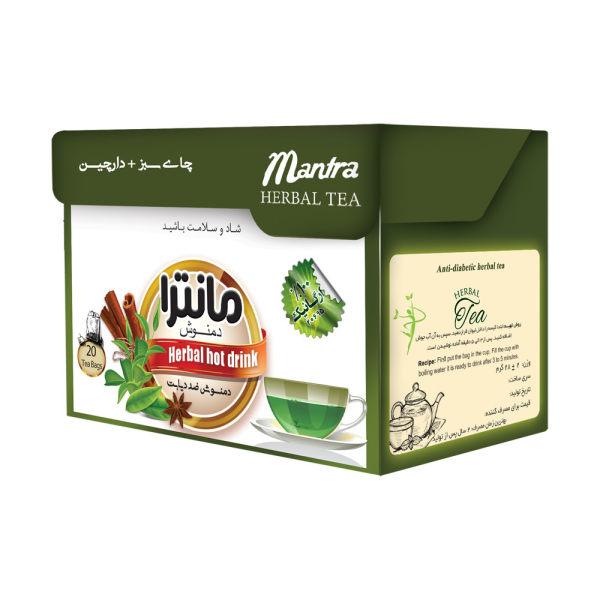 دمنوش ضد دیابت چای سبز و دارچین مانترا بسته 14 عددی