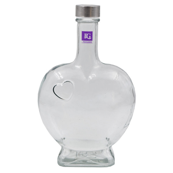بطری شیشه ای پیشگامان طرح قلب مدل PG-01