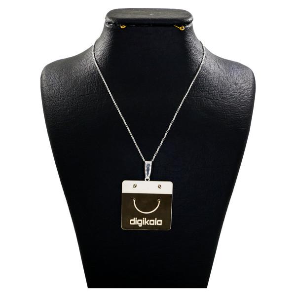گردنبند نقره زنانه دلی جم طرح دیجی کالا کد D 105