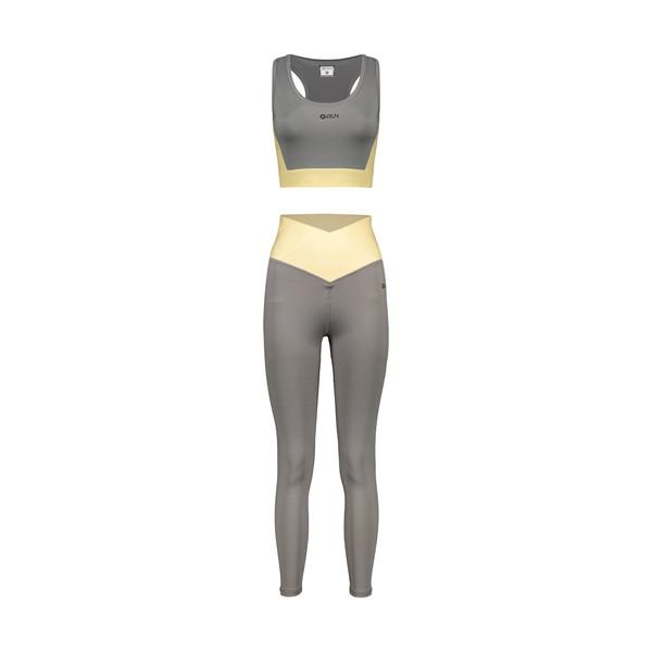 ست نیم تنه و لگینگ ورزشی زنانه بی فور ران مدل 2109210-93
