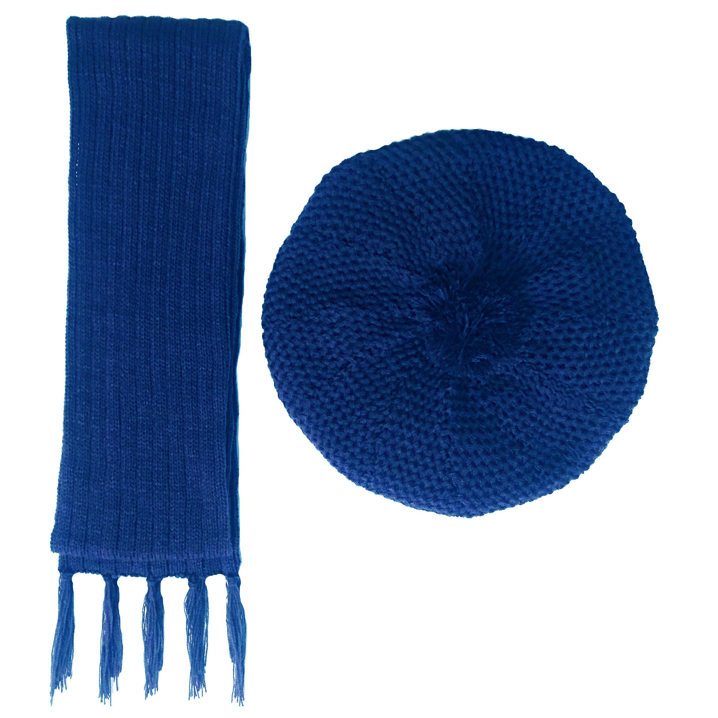 ست کلاه و شال گردن بافتنی زنانه کد B9
