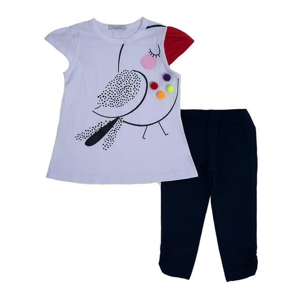 ست تی شرت و شلوارک دخترانه فیورلا مدل 31005