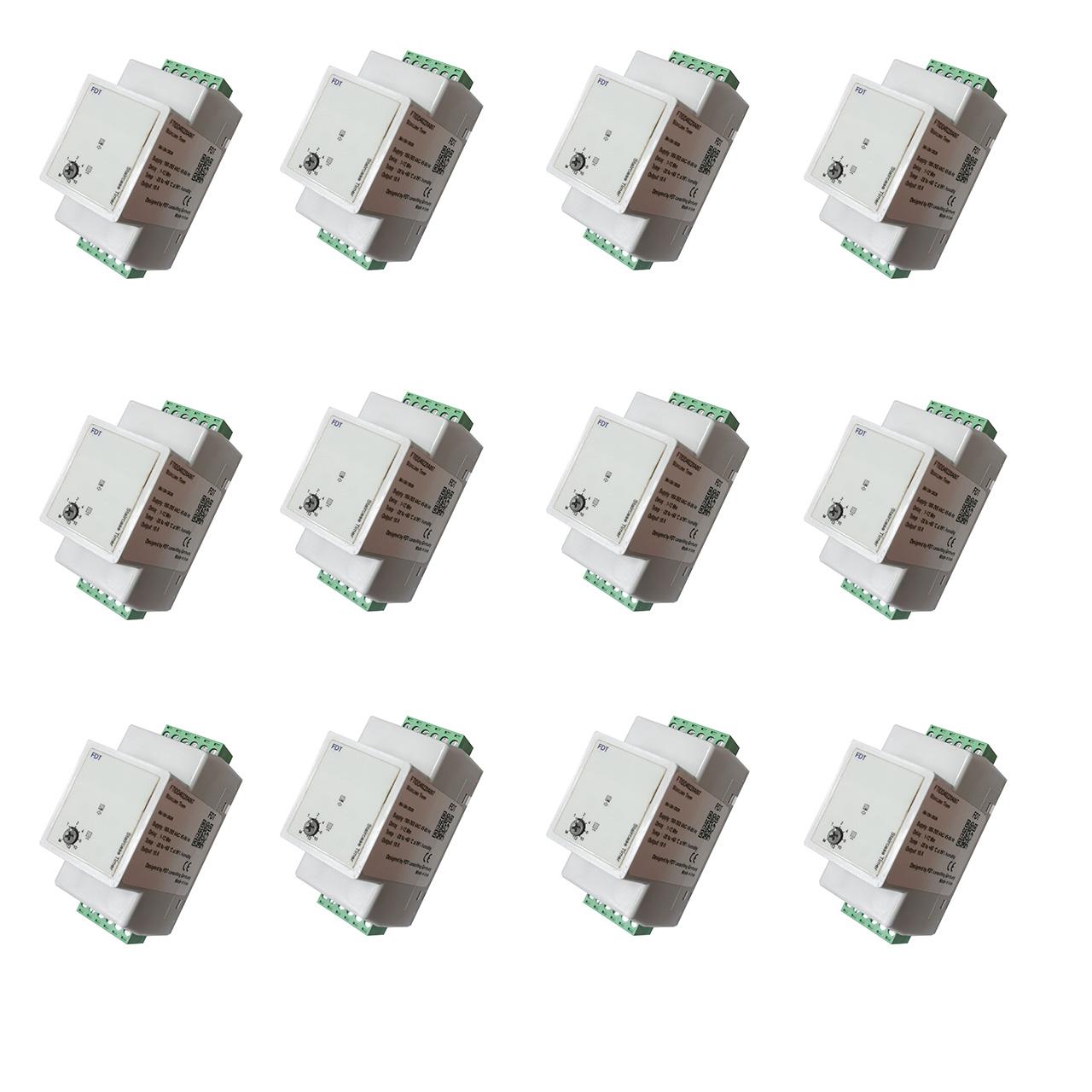 تایمر راه پله اف دی تی طرح مینیاتوری مدل FTIDD40220A007 بسته ۱۲ عددی