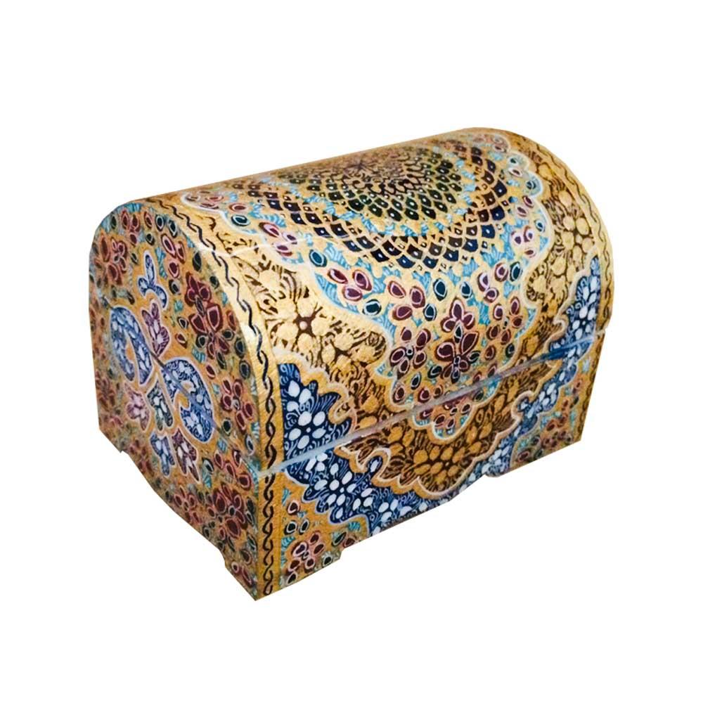 جعبه جواهرات استخوانی طرح تذهيب کد B 273