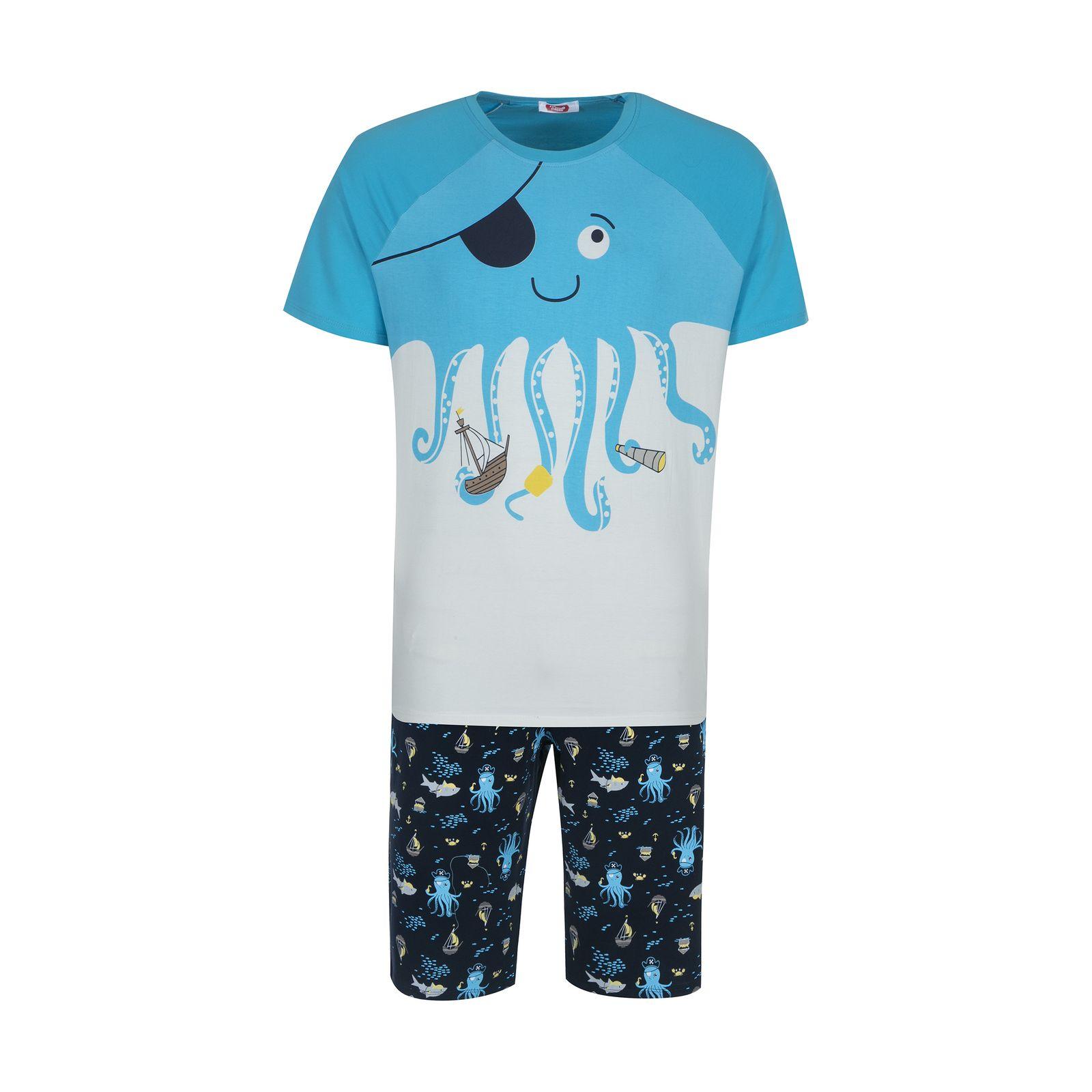 ست تی شرت و شلوارک راحتی مردانه مادر مدل 2041107-52 -  - 2