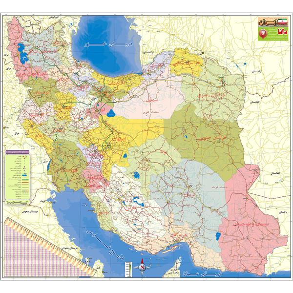 نقشه تقسیمات استانی ایران دانا مدل DWMIRP150H