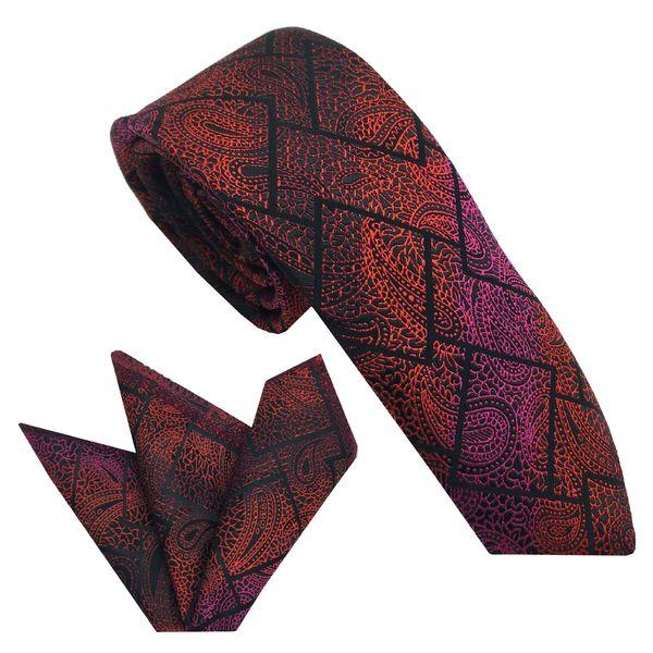 ست کراوات و دستمال جیب مردانه هکس ایران مدل KT-MD18