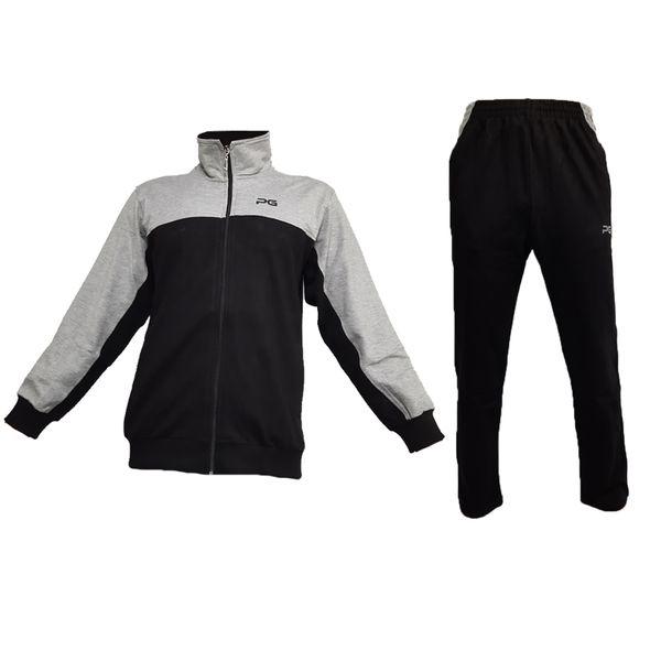 ست گرمکن و شلوار ورزشی مردانه پرگان مدل کارا رنگ مشکی
