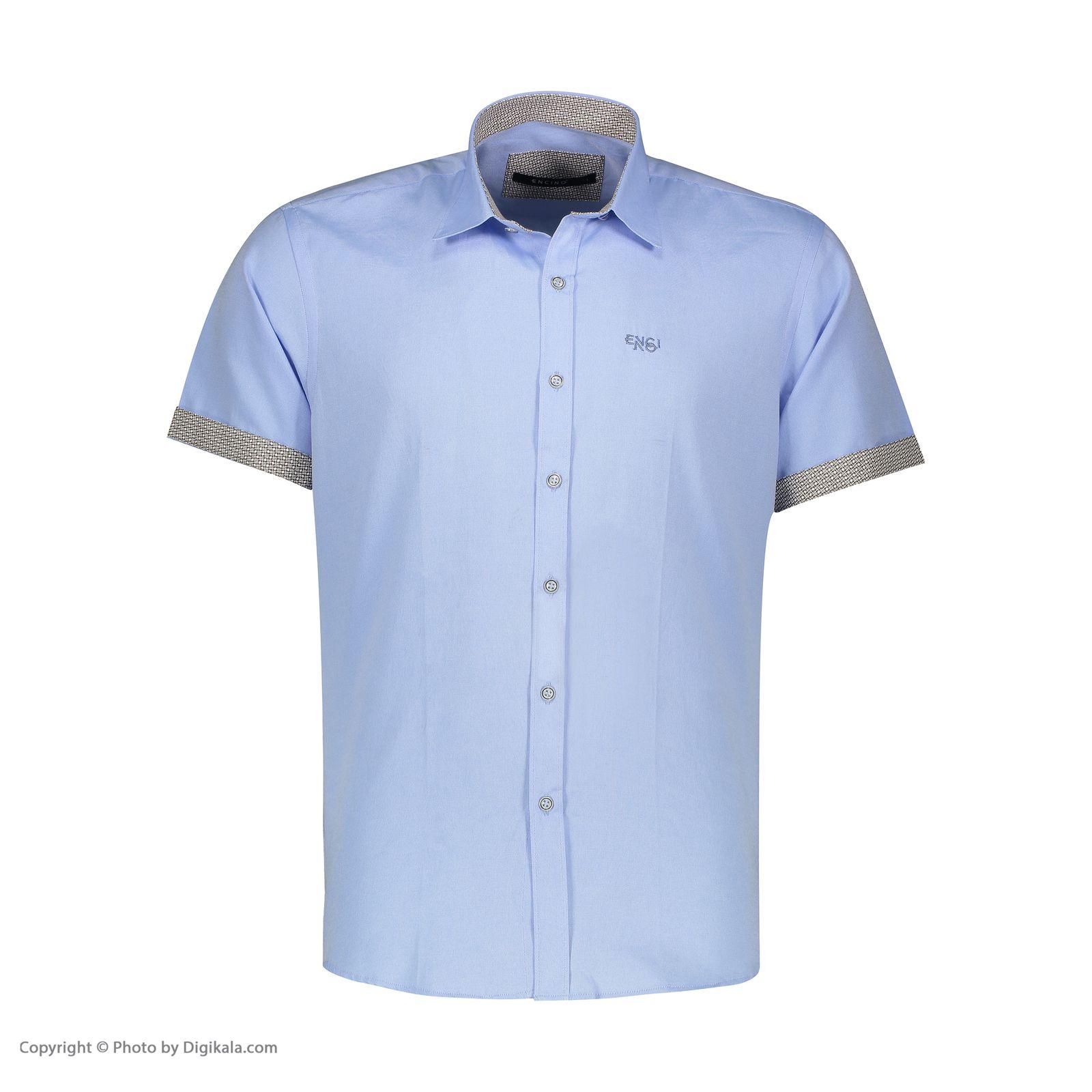 پیراهن آستین کوتاه مردانه ان سی نو مدل جرارد رنگ آبی -  - 2