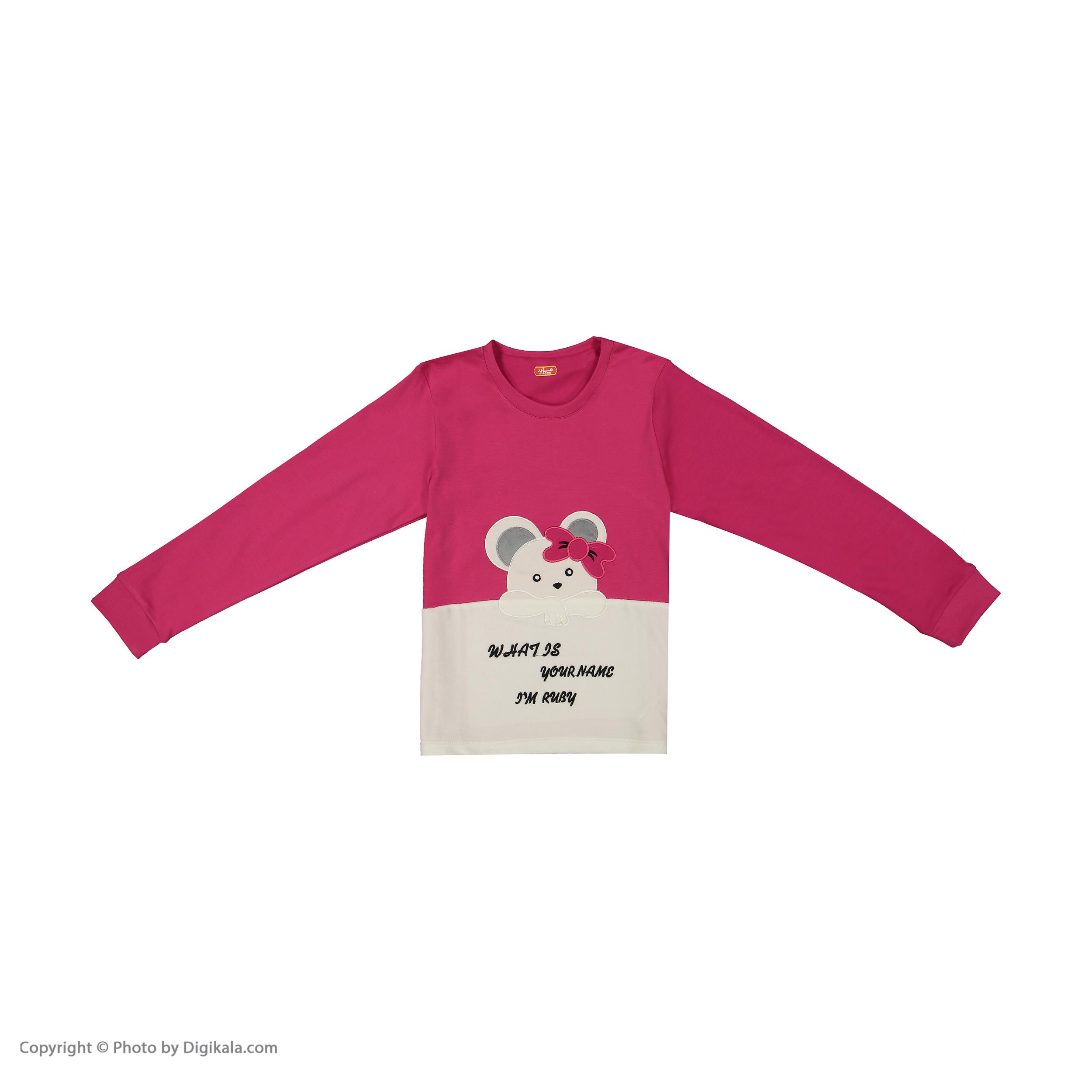 ست تی شرت و شلوار دخترانه مادر مدل 301-66 main 1 2