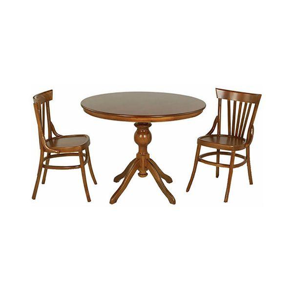 میز و صندلی ناهار خوری اسپرسان چوب کد Sm85