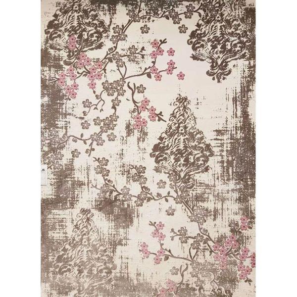 فرش ماشینی ساوین طرح فانتزی کد 1519 زمینه صورتی