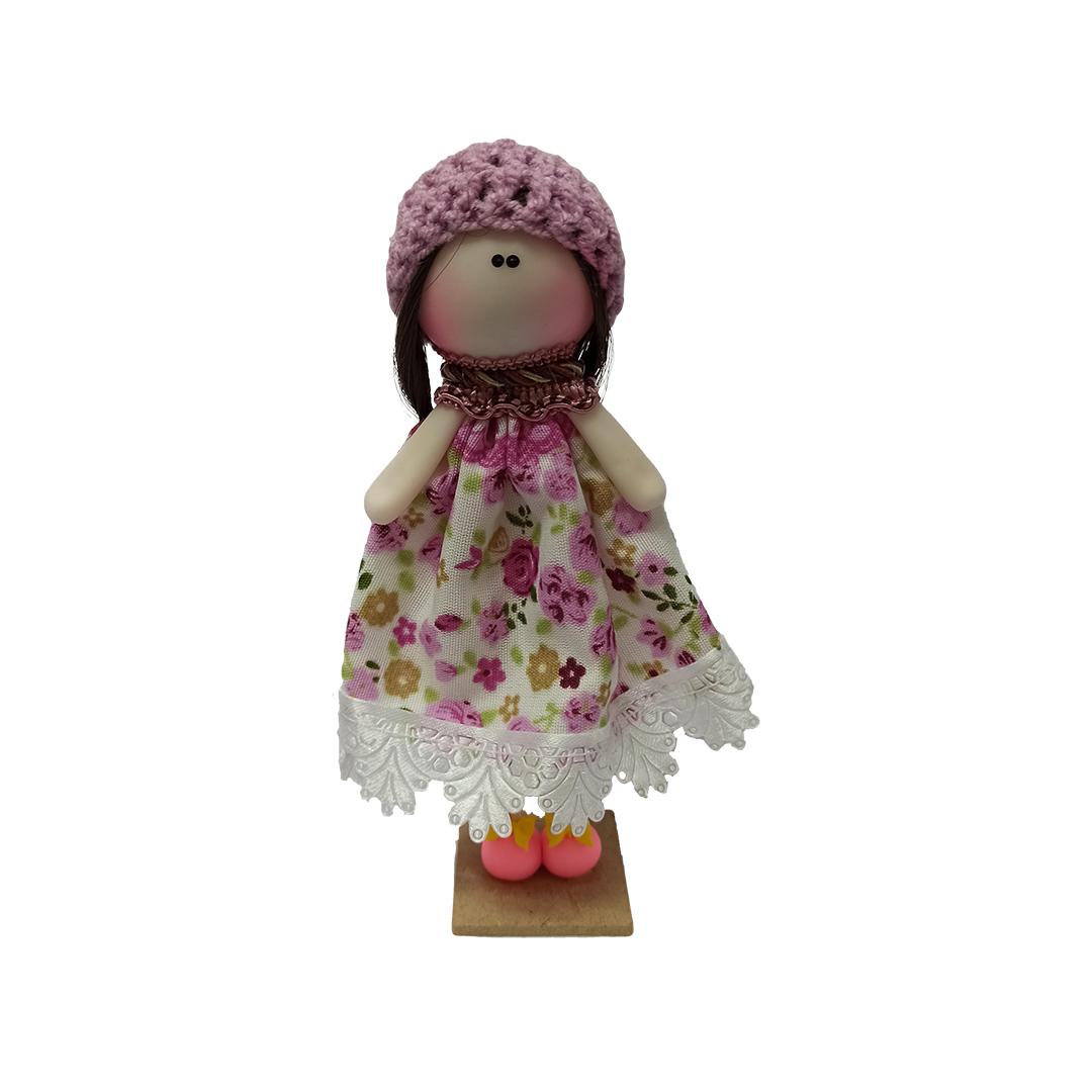 عروسک تزئینی مدل دختر روسی کد 01 ارتفاع 16 سانتی متر
