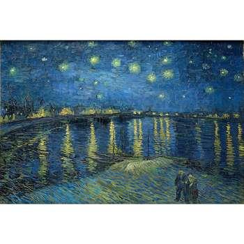 تابلو شاسی طرح شب پر ستاره بر فراز رن کد PR012