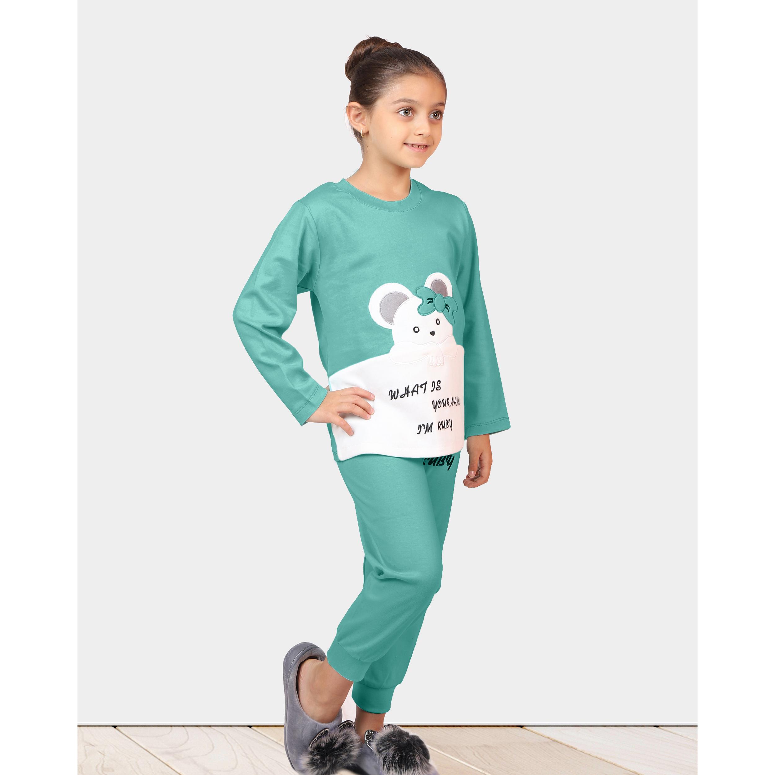 ست تی شرت و شلوار دخترانه مادر مدل 301-54 main 1 12