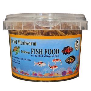 غذا خشک ماهی فود فارمز لند مدل میلورم وزن 50 گرم