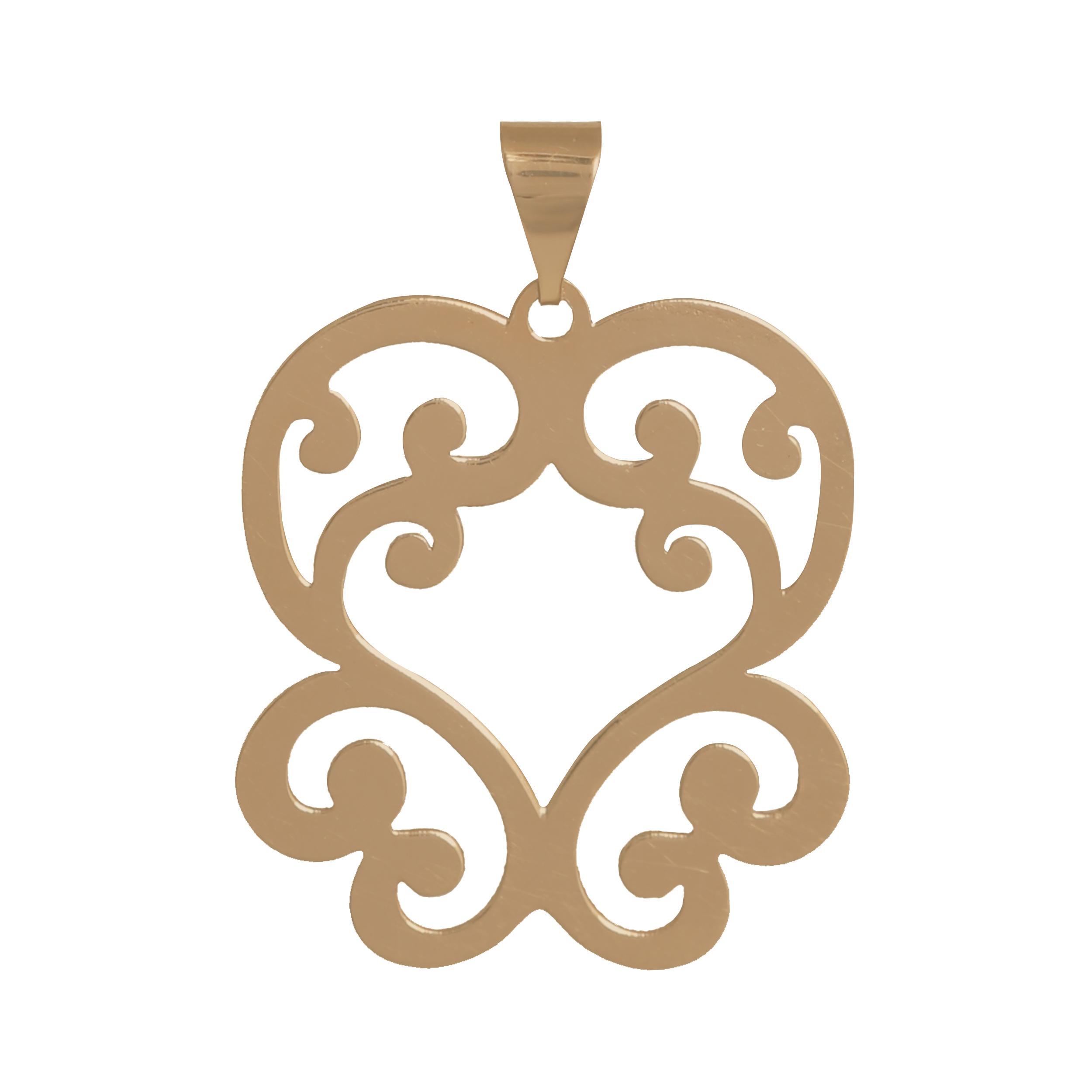 آویز گردنبند طلا 18 عیار زنانه آمانژ طرح اسلیمی کد 1070D8994