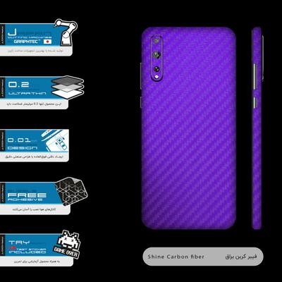 برچسب پوششی ماهوت مدل Full skin-Purple-Fiber مناسب برای گوشی موبایل هوآوی Y8P