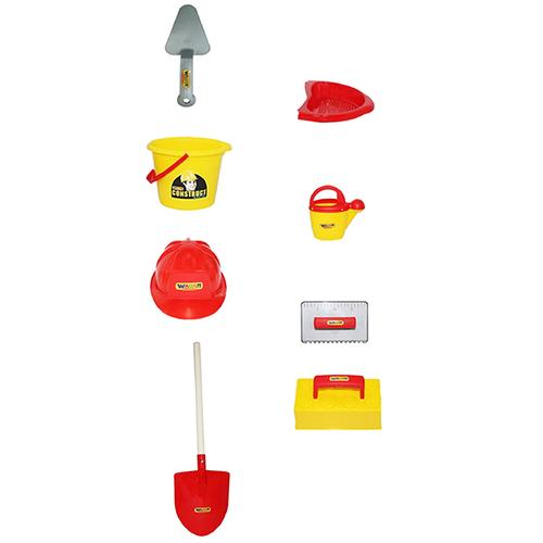 ست اسباب بازی بنایی پولسی مدل 50632 مجموعه 7 عددی