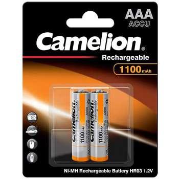 باتری نیم قلمی قابل شارژ کملیون مدل 1100 HR03 بسته 2 عددی