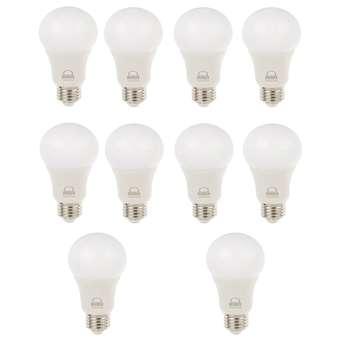 لامپ LED بروکس 10 وات مدل A60 پایه E27بسته 10 عددی