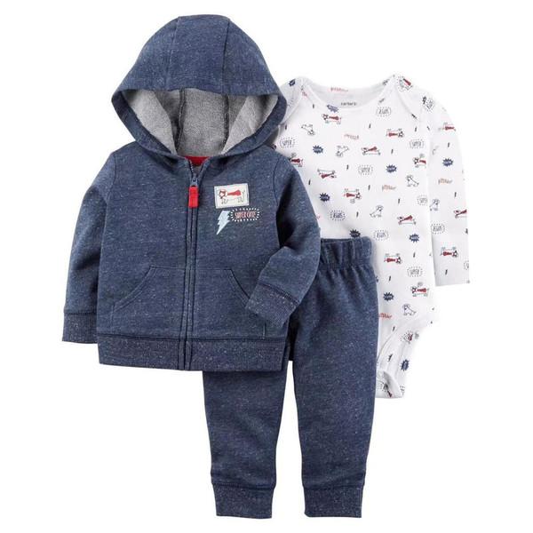 ست 3 تکه لباس نوزادی کارترز طرح Super Cute کد M426
