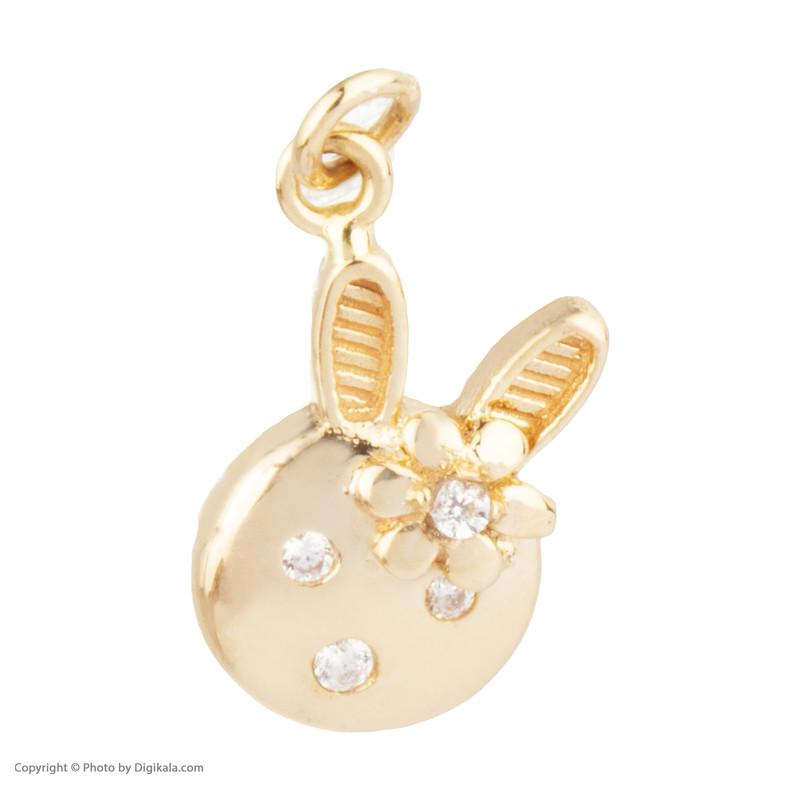 آویز گردنبند طلا 18 عیار  دخترانه گالری روبی مدل 21096051