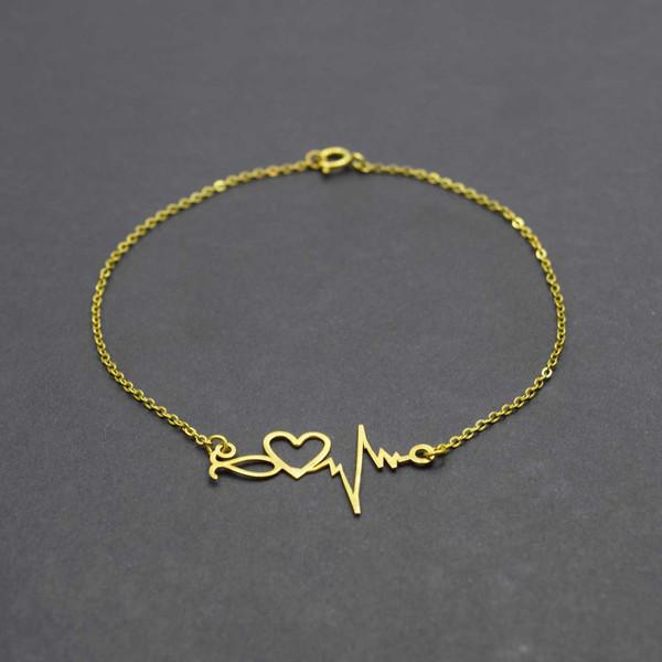 دستبند طلا 18 عیار زنانه کانیار گالری مدل B18