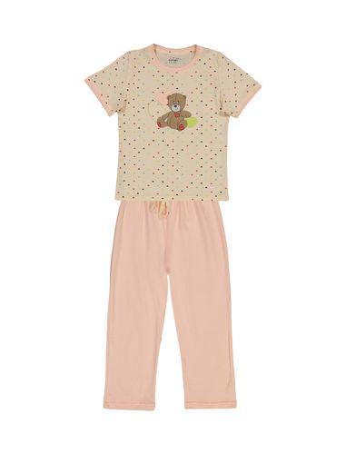 تی شرت و شلوار نخی دخترانه خرس مهربان