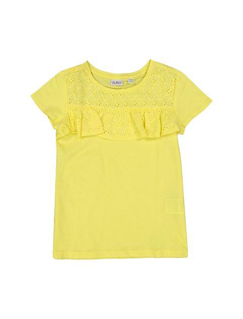 تی شرت یقه گرد دخترانه - بلوکیدز - زرد - 1