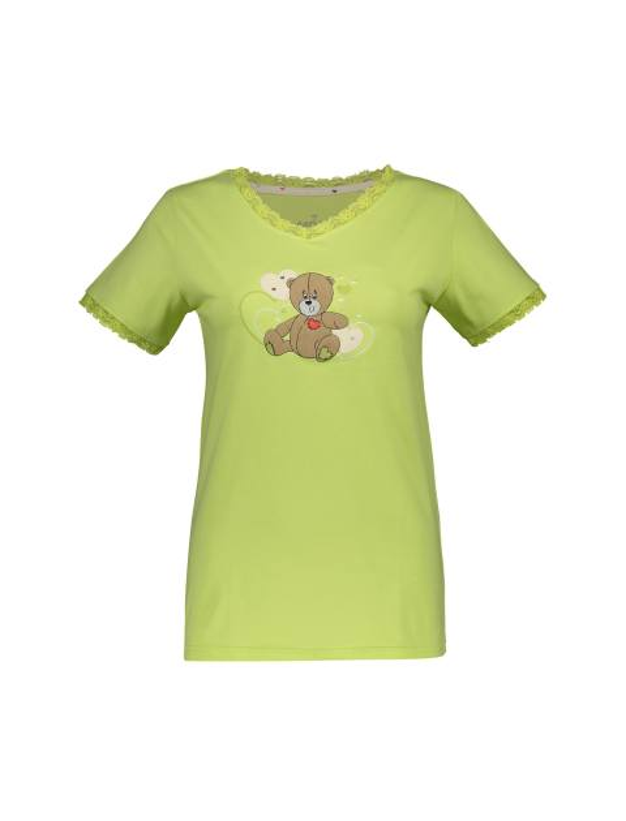 تی شرت و شلوار نخی زنانه خرس مهربان - سبز - 1