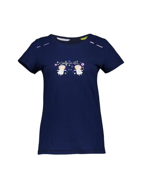 تی شرت و شلوار نخی زنانه - سرمه اي - 2