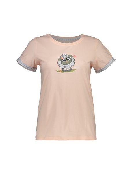 تی شرت و شلوار نخی زنانه طرح بره چهار خانه - گلبهي - 2