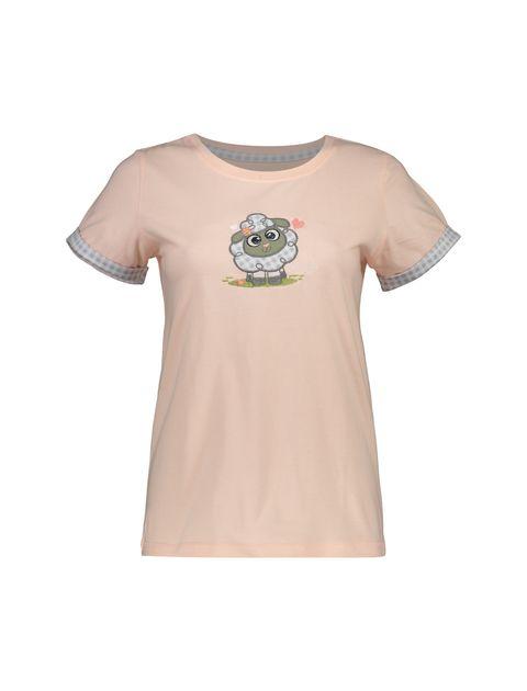 تی شرت و شلوار نخی زنانه طرح بره چهار خانه - ناربن - گلبهي - 2