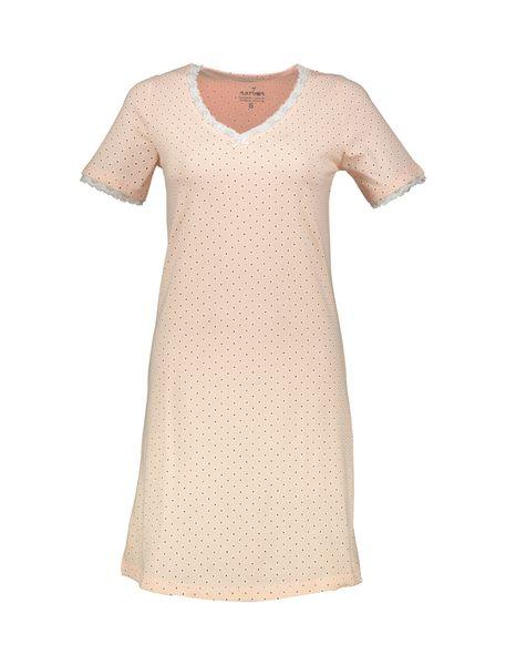پیراهن خواب نخی زنانه - صورتي - 1