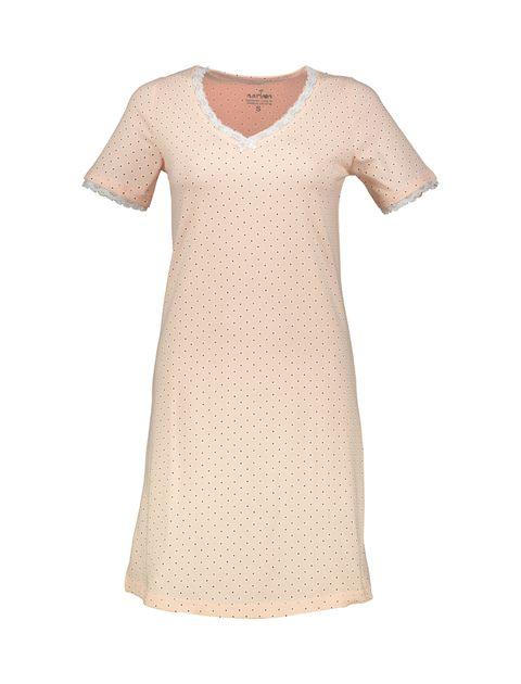 پیراهن خواب نخی زنانه - ناربن - صورتي - 1