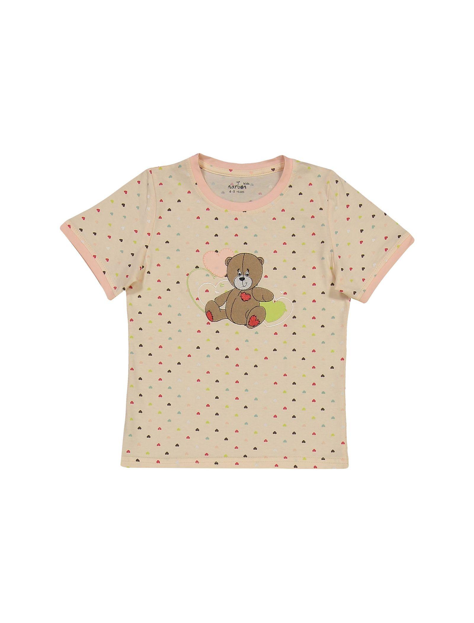 تی شرت و شلوار نخی دخترانه خرس مهربان - ناربن - گلبهي - 2
