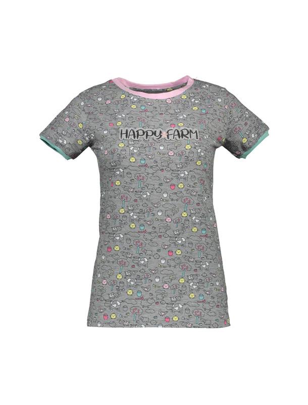تی شرت و شلوار نخی زنانه مدل مزرعه شاد