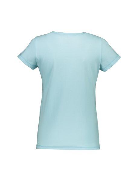 تی شرت و شلوار راحتی نخی زنانه پرک سه گل - فيروزه اي - 3