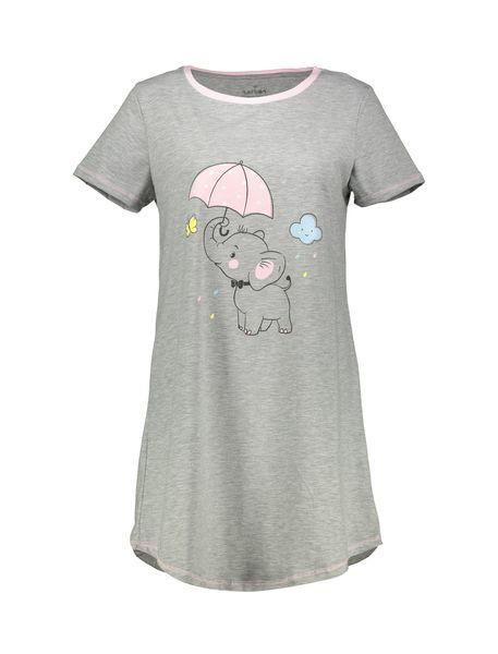 پیراهن خواب نخی زنانه فیل - طوسي - 1