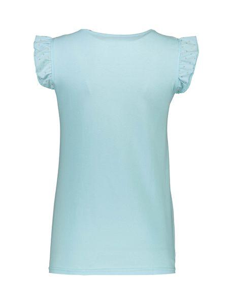 تی شرت و شلوارک نخی زنانه - آبي روشن - 3