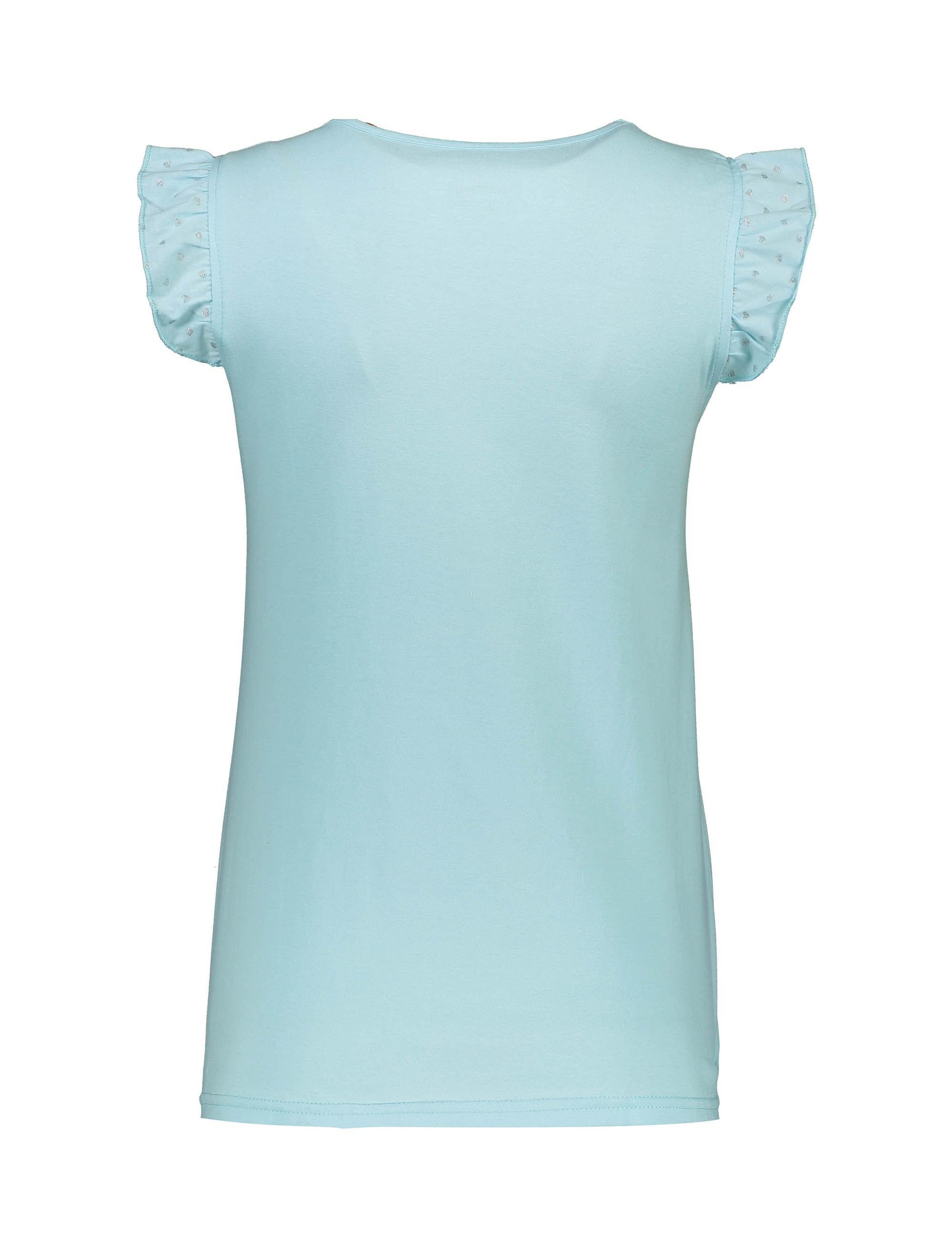 تی شرت و شلوارک نخی زنانه - ناربن - آبي روشن - 3