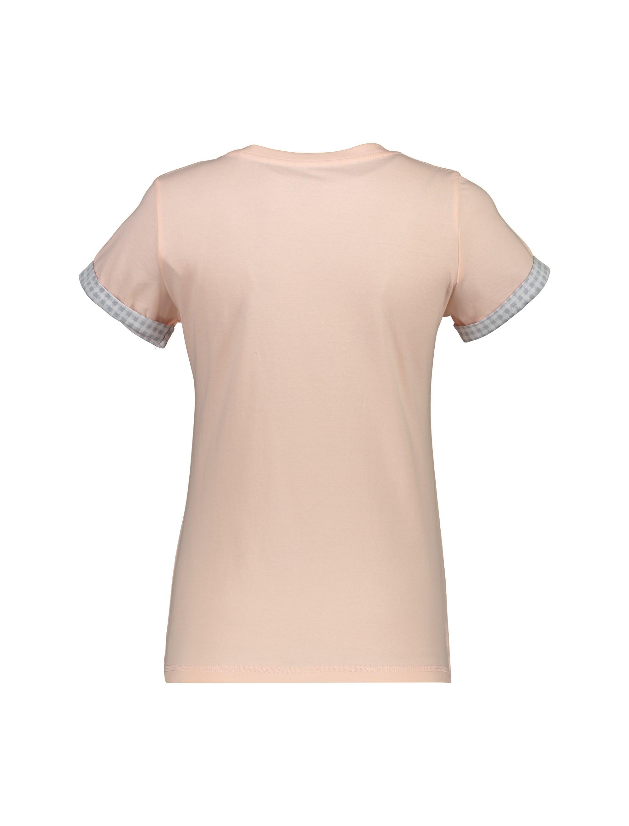تی شرت و شلوار نخی زنانه طرح بره چهار خانه - ناربن - گلبهي - 3