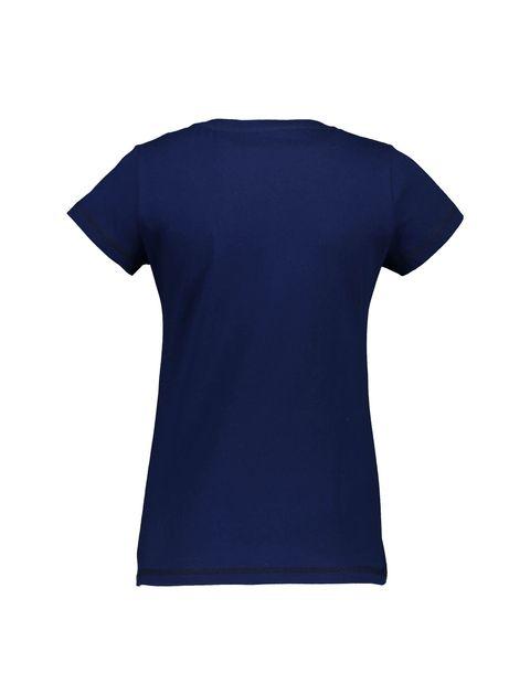 تی شرت و شلوار نخی زنانه - سرمه اي - 3
