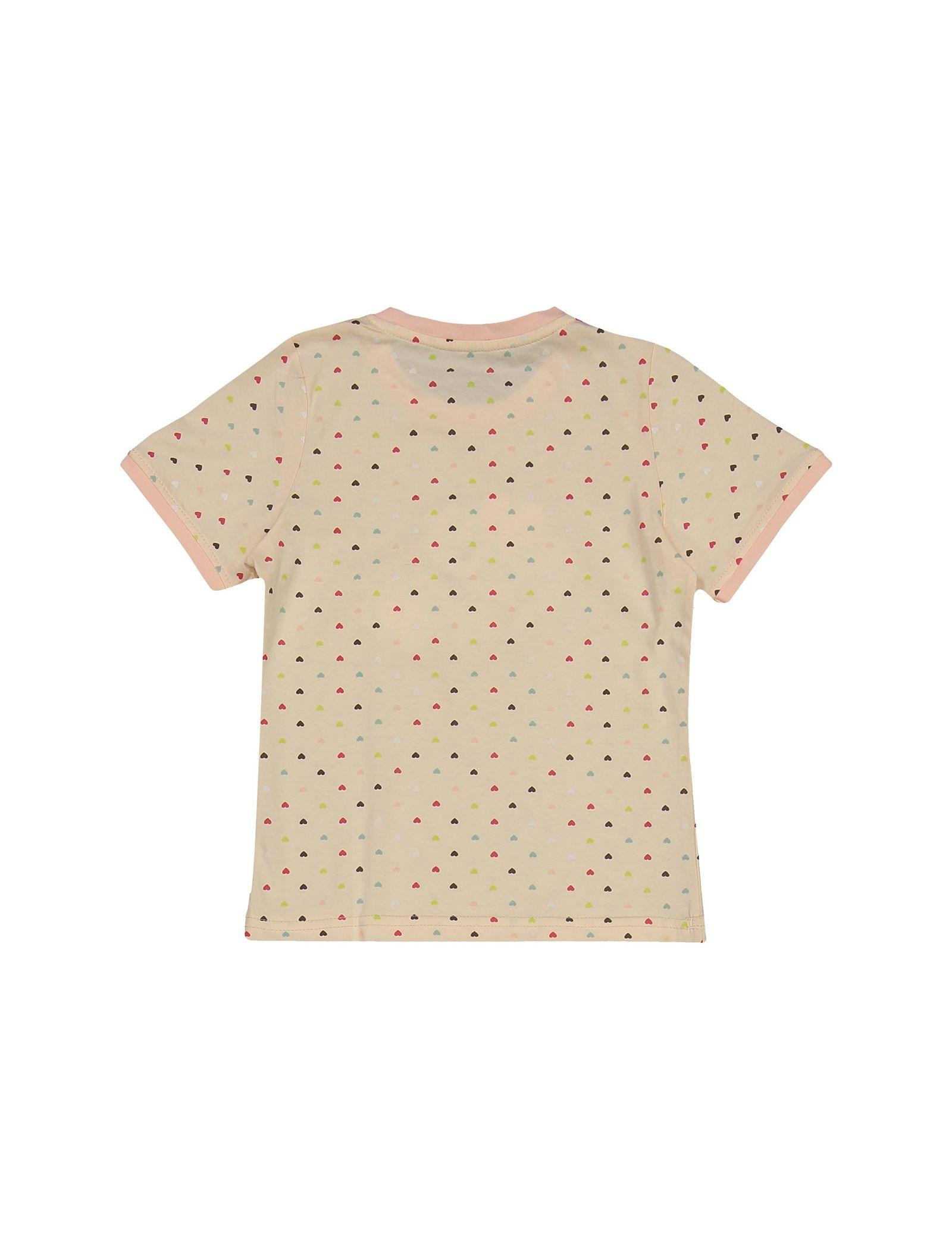 تی شرت و شلوار نخی دخترانه خرس مهربان - ناربن - گلبهي - 3