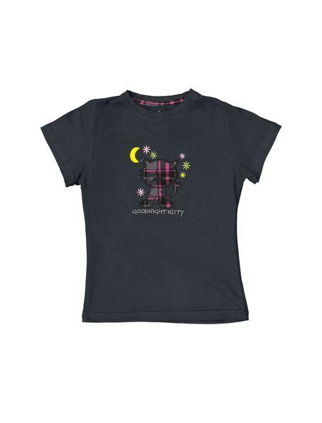 تی شرت و شلوار نخی بچگانه هیربد 1231 - زغالي - 2