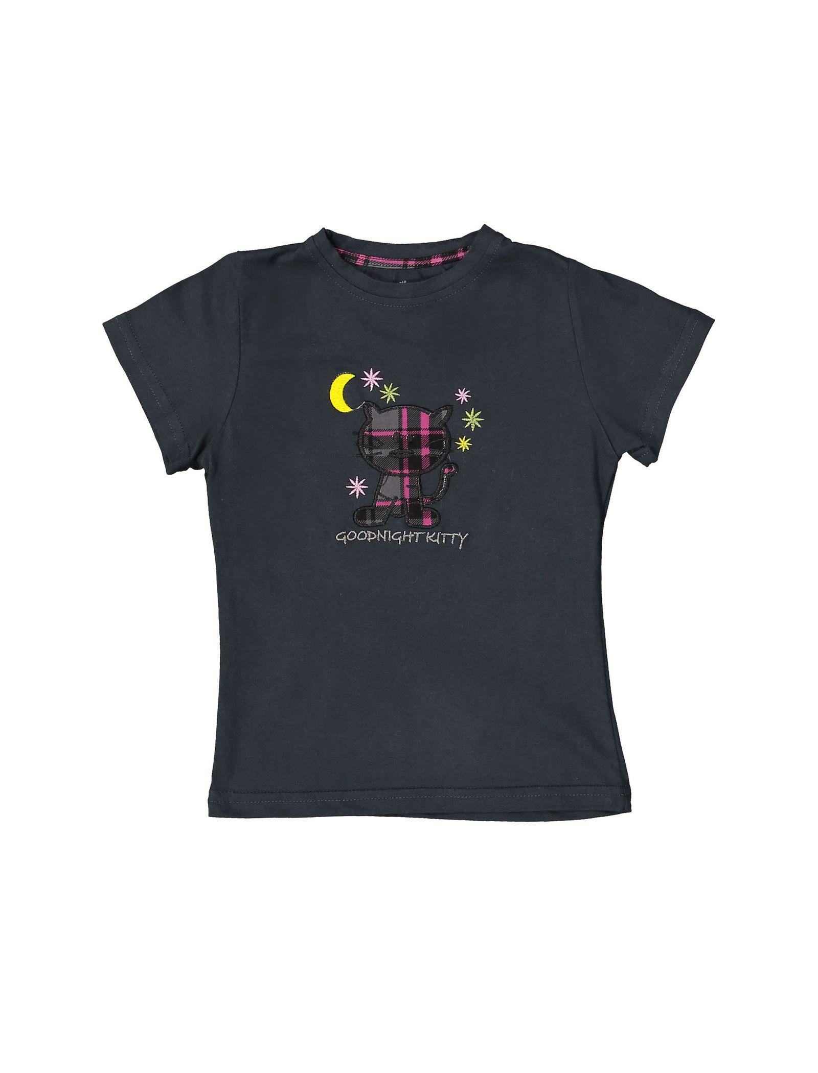 تی شرت و شلوار نخی بچگانه هیربد 1231 - ناربن - زغالي - 2
